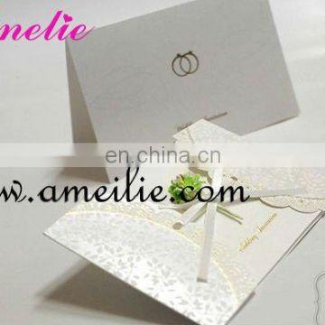 A7i76 White Color Flower Wedding Invitation Cards Models Of Wedding