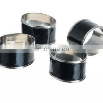 Black Enamelled Napkin Ring
