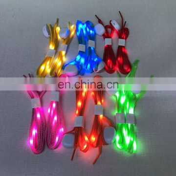 Factory price popular colorful nylon flashing CE RoHS LED shoelace