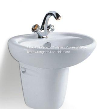 Good sale bathroom wall mounted white ceramics two piece hand wash basin