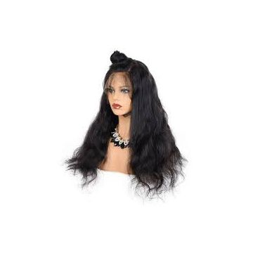 No Mixture Natural Black 18 Inches Bouncy Curl Natural Human Hair Wigs Natural Curl