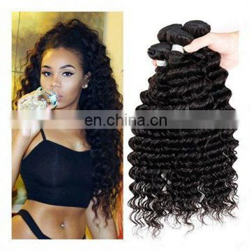 Raw indian remy hair deep wave crochet braids with human hair