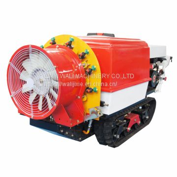 Garden crawler type remote  air blast power sprayer