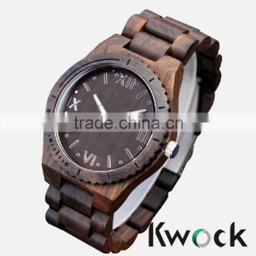 Day/Date water resistant feature and original material wooden watch,the best selling products in Europe and American