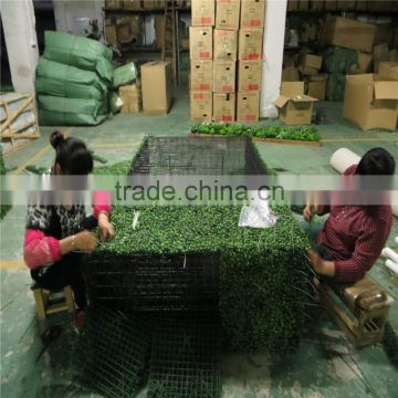 artificial plastic wihte planter artificial boxwood hedge fence
