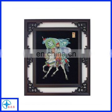 Traditional Chinese legendary figure fresco frame, wooden wall decorative frames