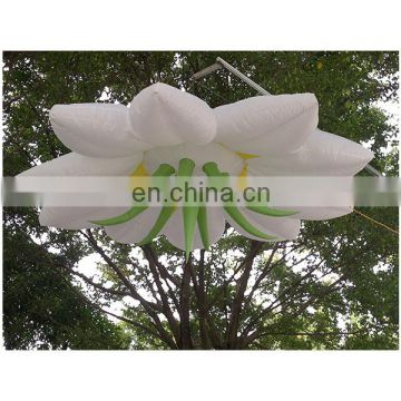giant lighting inflatable flower decoration for event party