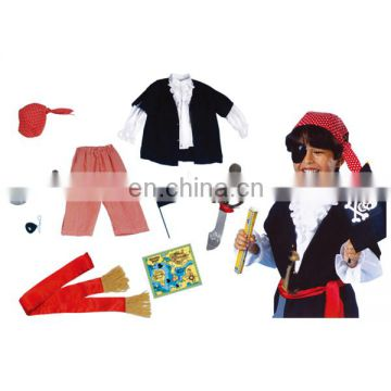 High quality fine workmanship boys kids pirate costume for sale