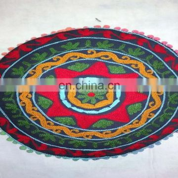 Ethnic suzani round pillow case wholesale decorative floor cushion cover