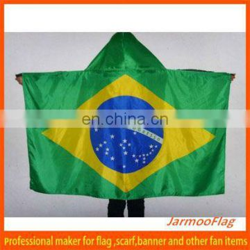 world cup polyester brazil flag cape