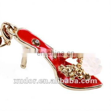 RED SLIPPERS BEAUTIFUL HIGH HEEL SHOE KEYCHAIN FOR GIRLS