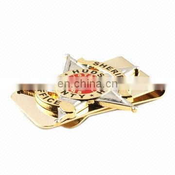 Promotional Gift Hot Sale Men Custom Logo Gold Metal MONEY CLIPS