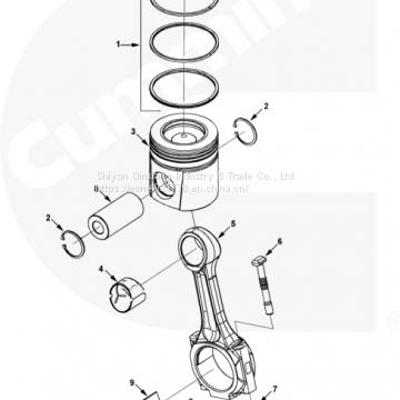 Cummins Qsk45 Qsk60 Engine Piston Kit 4309253 3645958 4352597 Of