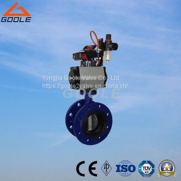 Flanged Type Soft Seal Pneumatic on/off Butterfly Valve (D641X)