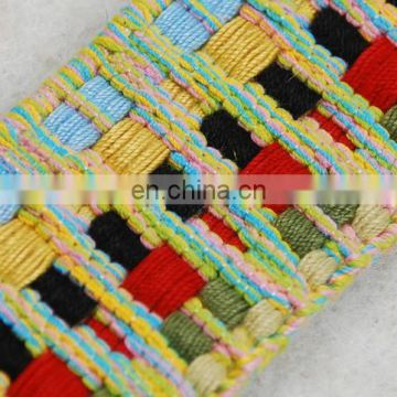 New design braided polyester colored ribbon webbing for garment
