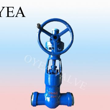 ANSI API High Temperature High Pressure Power Station Pressure Seal Motorized Gear Gate Valve