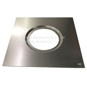 """24"""" Square Sump Pan Receiver For 15 1/4"""" Diameter Cast Iron"""