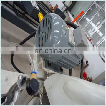 High quality UPVC window profile cutting saw with two head