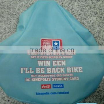 blue polyester waterproof bike seat cover