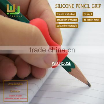 Colorful Silicone pencil grips plus rubber pencil grip soft and safety for kids correct writing