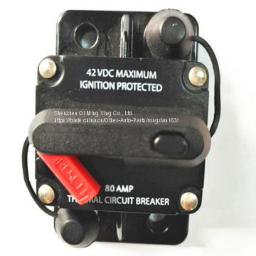 ZOOKOTO F42 VDC Maximum Ignition Protected 80Amp 300Amp Thermal Circuit Breaker Auto Recover 50A 100A
