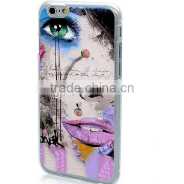 Ultra Thin Hard PC Case 4.7 inch for Mobile Phone Fashion Pretty Girls Back Cover