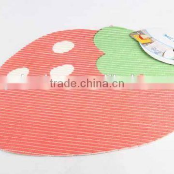 EVA anti slip bath mat in strawberry shape/bathroom mat