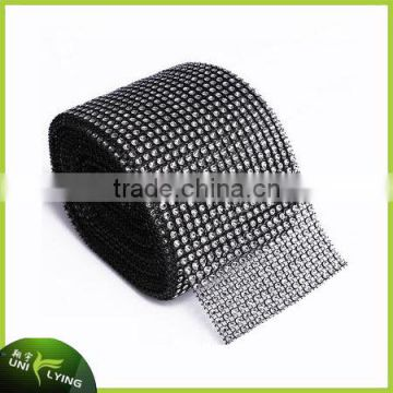 2016 Bling Plastic Crystal Rhinestone Mesh Hotfix Trimming Iron On Crystal Patches