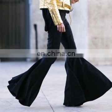 Women More flared Marrakesh High Waist Crepe More Loose Flared Trouser