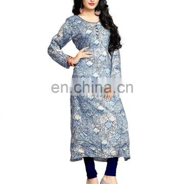 Decent Casual Wear Printed Rayon High Quality Kurti 2017