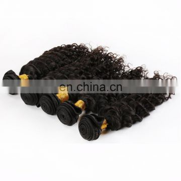 Cheap straight hair weave Deep curl brazillian human hair