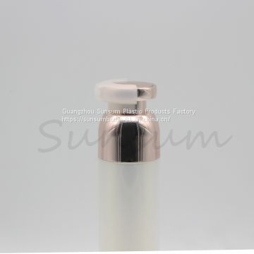 Pearly Shiny 50ml Plastic Cosmetic Airless Bottle with Gold Pump