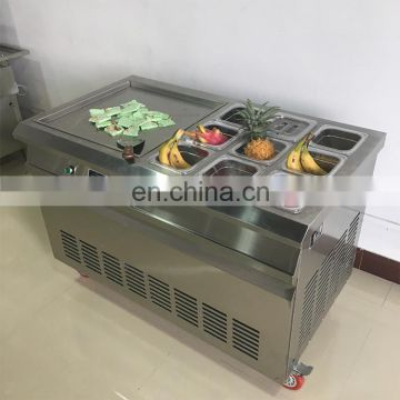 Thailand Rolled Fry Ice Machine/Stainless Steel Fry Ice Cream Making Machine /Fried Ice Cream Machine