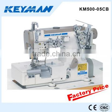 KM500-05CB High speed flat-bed interlock sewing machine with cutter for elastic bra sewing machine 500 sewing machinery