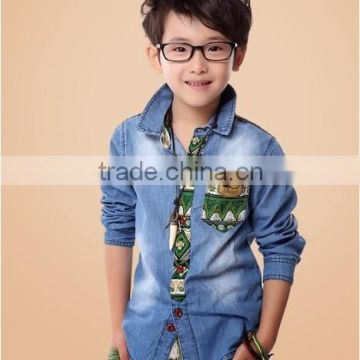Cool Cotton T-shirts Hot Sales Jean Shirts Boys