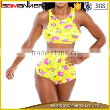 Ladies lycra swimsuit fancy printing sexy black women plus size swim suit                                                                                                         Supplier's Choice