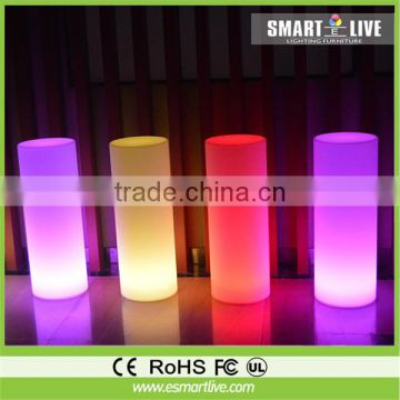 Small and cute good looking plastic LED light cylinder