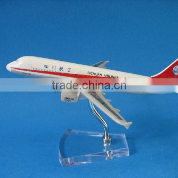 Metal A320 Four Sichuan aviation airplane model