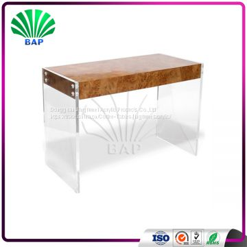 High Quality Wooden Top Office Desk With Drawers Plexiglass Table - High top office table