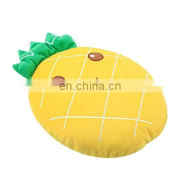 stuffed yellow pineapple toy plush fruit sea cushion