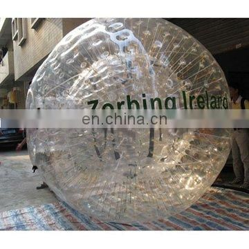 Inflatable PVC zorb ball water game, zorbing ball with customized logo