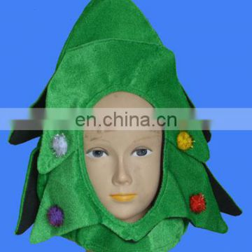 Fancy green santa tree hat with red point