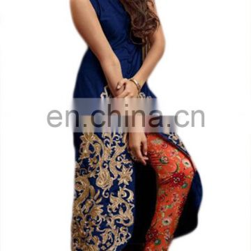 Party Wear Dual Bottom Dress Material / Women Casual Ethnic Occasion Wear Suis (Sleeves Included) (salwar kameez Suits)