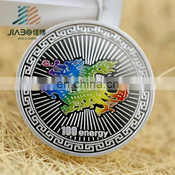 Factory direct sales cheap custom metal souvenir ag 999 silver coin