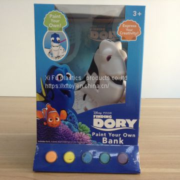 Paint your own  DIY vinyl coin bank    figure charachter coin saver