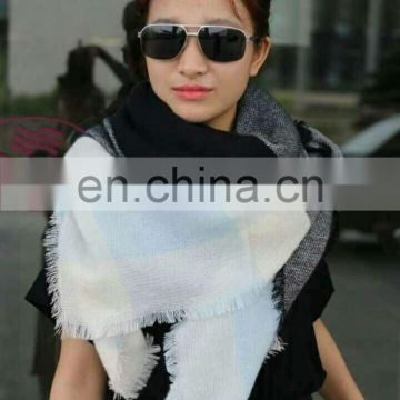 2016 winter black and white warm scarf