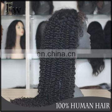 Tangle&shedding free top quality short afro kinky lace human hair wigs