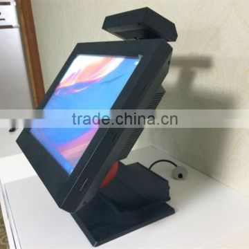 Best price point of sale touch screen pos system with cash drawer, thermal printer, scanner all in one