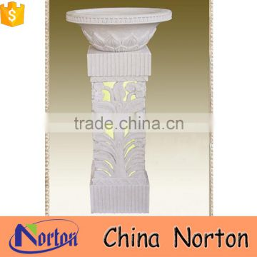 hot sale marble roman style flower pot for garden NTMF- FP217X