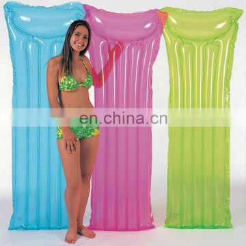 inflatable lounger transparant mat